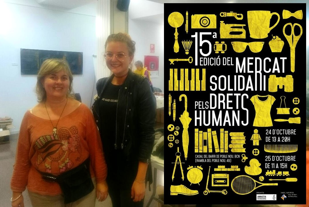 """ESEI's student Melissa Köth attending the """"Mercat solidari pels drets humans"""" 7"""