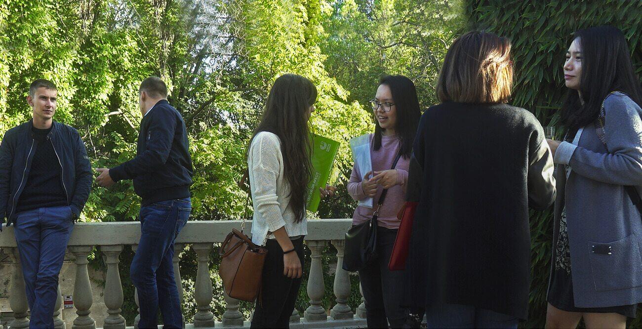 International masters students speaking