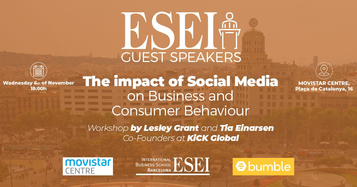 Guest speakers: Lesley Grant and Tia Einarsen on Social Media Marketing