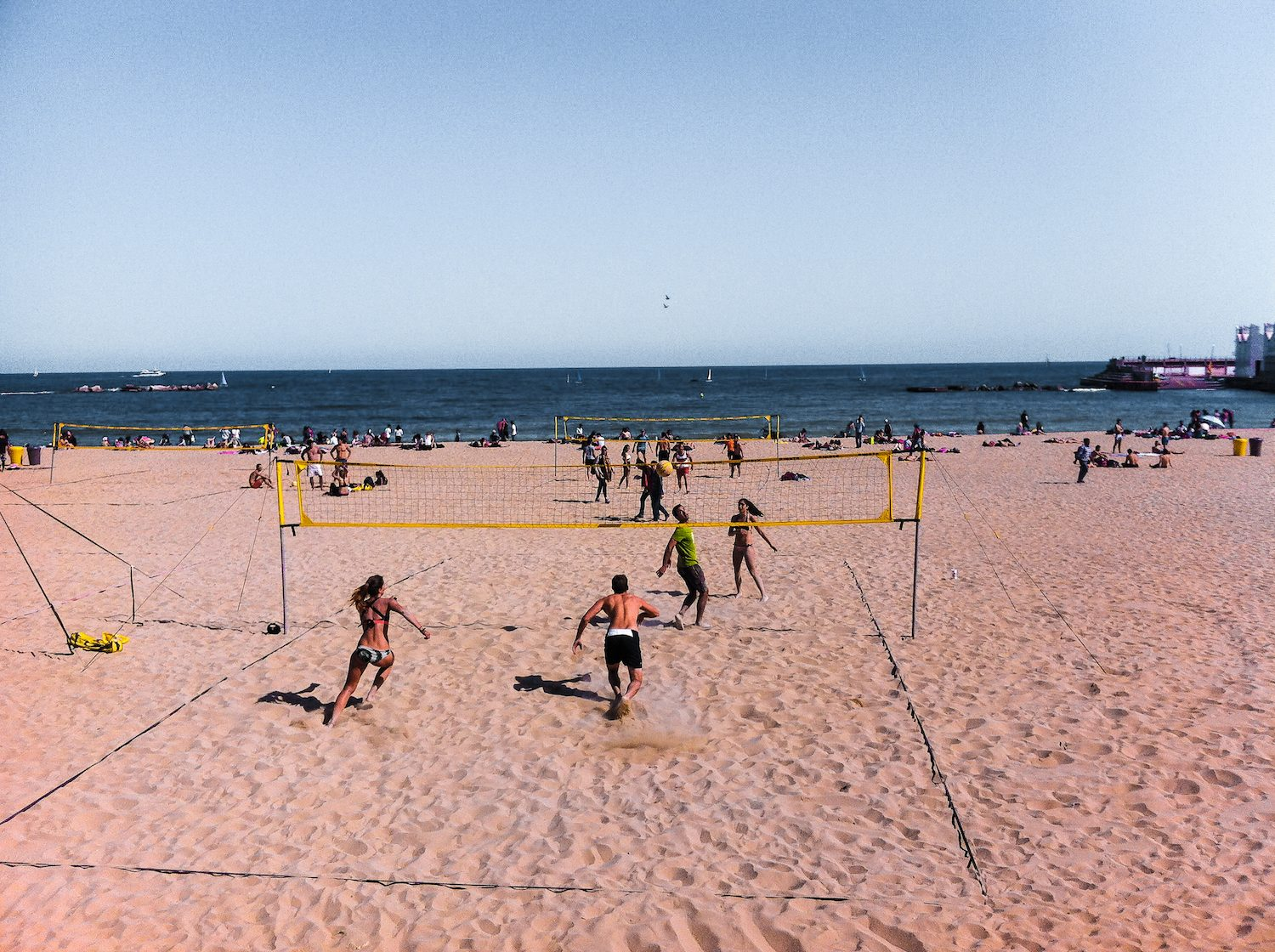 Yoga and Volley Ball Tournament at the beach 1
